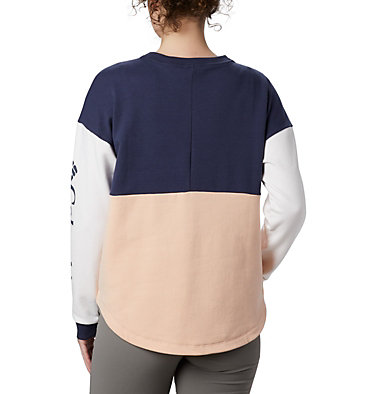 Women's Columbia Lodge™ II Crew Columbia Lodge™ II Crew | 870 | L, Peach Cloud, Nocturnal, White, back