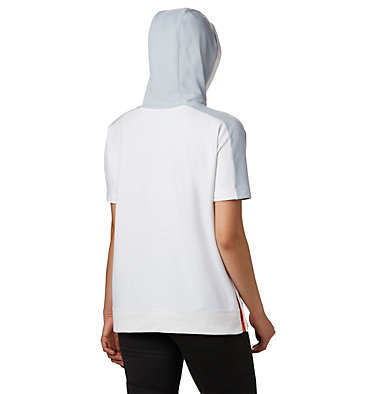 Women's Columbia Park™ Short Sleeve Hoodie Columbia Park™ SS Hoodie | 032 | L, White, Grey Heather, Bright Nectar, back