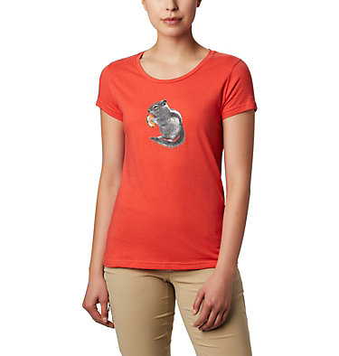 Women's Hidden Lake™ Crew Tee Hidden Lake™ Crew Tee | 100 | L, Bright Poppy Heather, S'mores, front