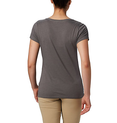 Women's Hidden Lake™ Crew T-Shirt Hidden Lake™ Crew Tee | 847 | L, Charcoal Heather, Be Free, back