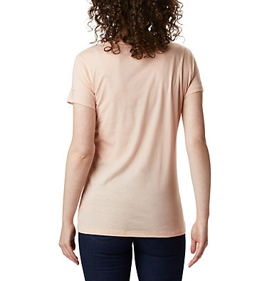Women's Hidden Lake™ Crew T-Shirt Hidden Lake™ Crew Tee | 847 | L, Peach Cloud Heather, Be Free, back