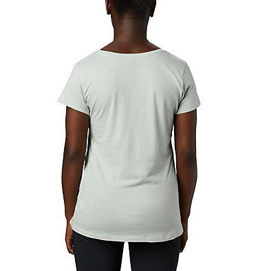 T-shirt col V Hidden Lake™ pour femme Hidden Lake™ V Neck Tee | 335 | L, Cool Green Heather, Linear Trailscape, back