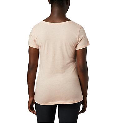 T-shirt col V Hidden Lake™ pour femme Hidden Lake™ V Neck Tee | 335 | L, Peach Cloud Heather, Linear Trailscape, back