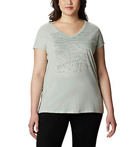 Womens Hidden Lake™ V-Neck T-Shirt -Plus Size