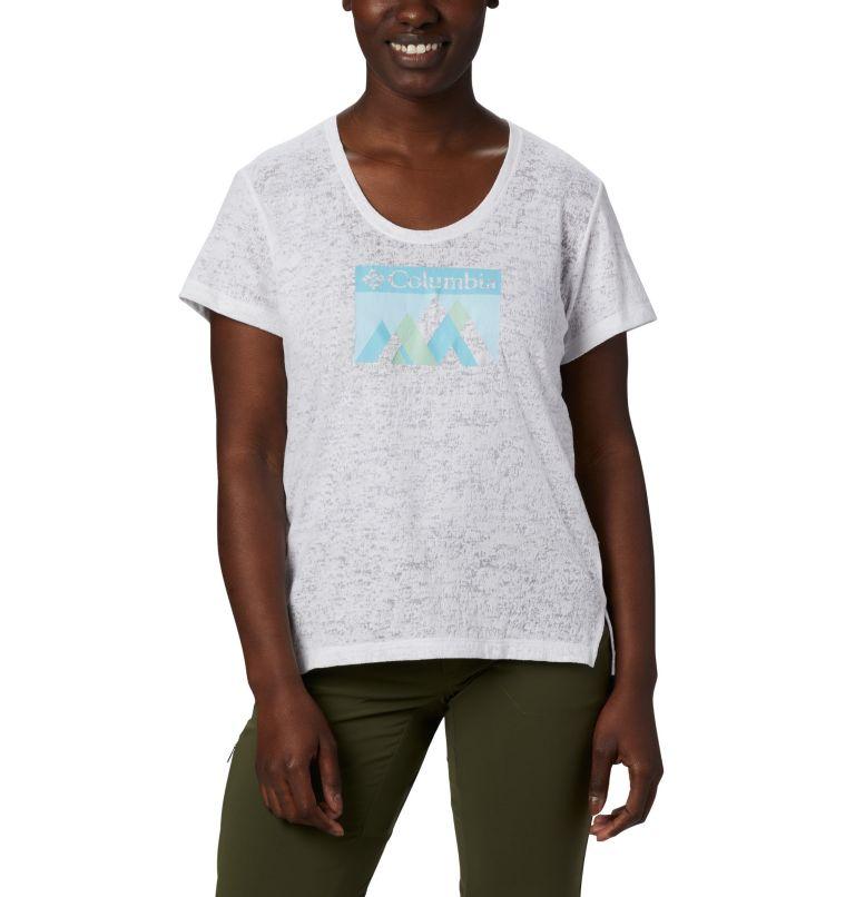 Rose Summit™ SS Tee | 101 | L Women's Rose Summit™ Short Sleeve T-Shirt, White, Peak Fun, front