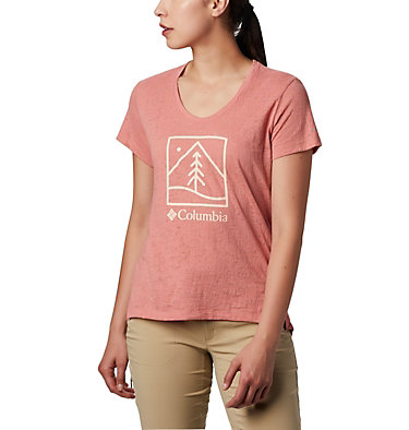 Women's Rose Summit™ Short Sleeve T-Shirt Rose Summit™ SS Tee | 557 | S, Dark Coral, Outdoor Icon, front
