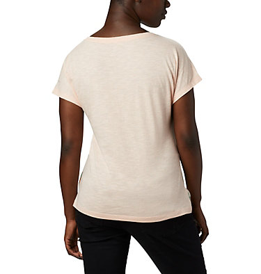 Women's High Dune™ T-Shirt High Dune™ SS Tee | 100 | L, Peach Cloud, Leafscape, back