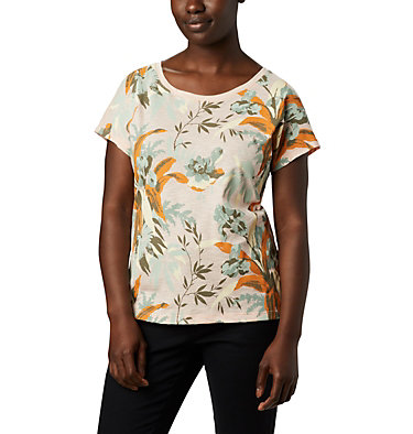 Women's High Dune™ T-Shirt High Dune™ SS Tee | 100 | L, Peach Cloud, Leafscape, front