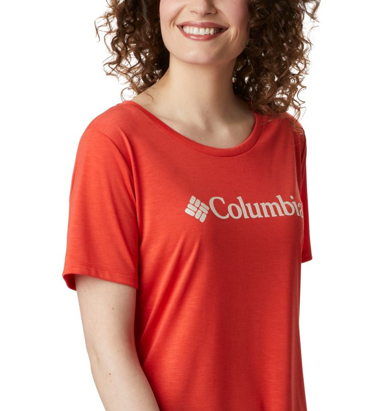 Lava Lake™ II SS Tee | 847 | XS Women's Lava Lake™ II T-Shirt, Bright Poppy, CSC Branded, a3