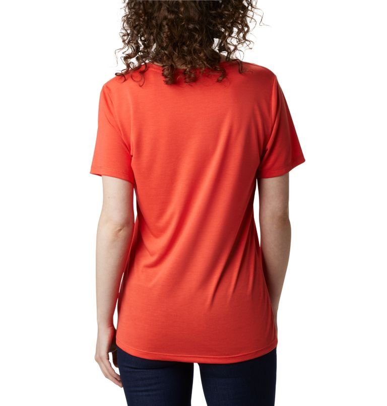 Lava Lake™ II SS Tee | 847 | XS Women's Lava Lake™ II T-Shirt, Bright Poppy, CSC Branded, back