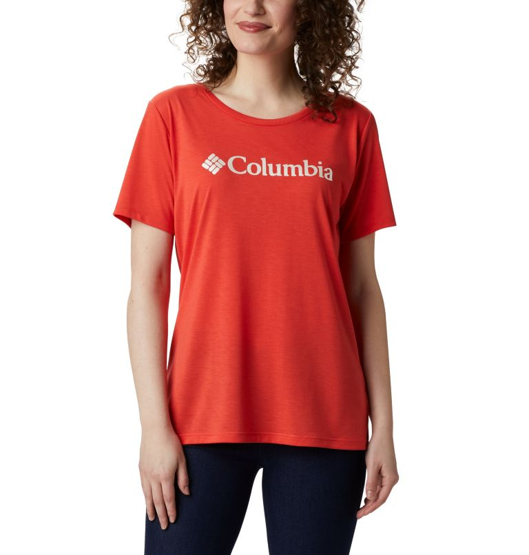 Lava Lake™ II SS Tee | 847 | XS Women's Lava Lake™ II T-Shirt, Bright Poppy, CSC Branded, front