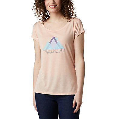 Women's Shady Grove™ T-Shirt Shady Grove™ SS Tee | 871 | L, Peach Cloud, Peak Performance, front