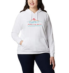 Women's Columbia™ Logo French Terry Hoodie – Plus Size