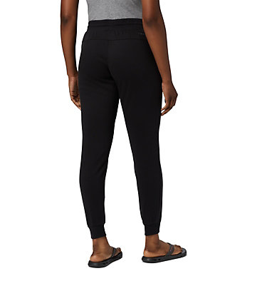 Women's Columbia™ Logo French Terry Joggers - Plus Size Columbia™ Logo French Terry Jogger | 032 | 1X, Black, back
