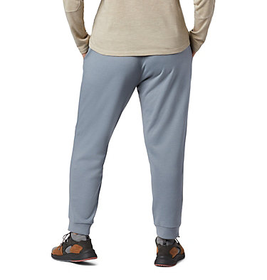 Women's Columbia™ Logo French Terry Joggers - Plus Size Columbia™ Logo French Terry Jogger | 032 | 1X, Tradewinds Grey Heather, back