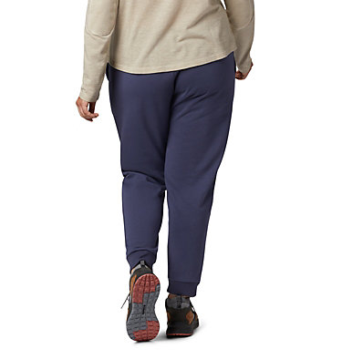 Women's Columbia™ Logo French Terry Joggers - Plus Size Columbia™ Logo French Terry Jogger | 032 | 1X, Nocturnal, back