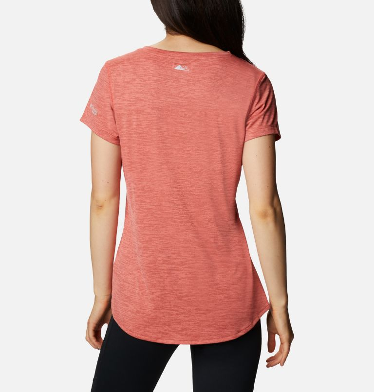 W Trinity Trail™ II Graphic | 639 | XS T-shirt imprimé à manches courtes Trinity Trail™ II pour femme, Dark Coral, back