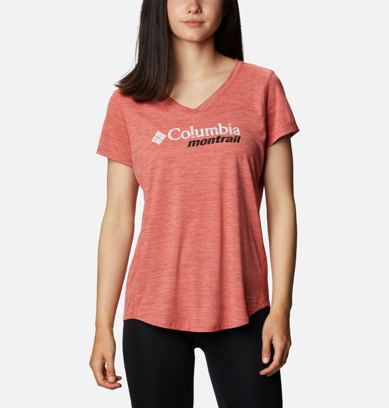 W Trinity Trail™ II Graphic | 639 | XS T-shirt imprimé à manches courtes Trinity Trail™ II pour femme, Dark Coral, front
