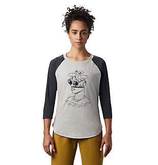 Women's Head in the Clouds™ Raglan 3/4 T-Shirt