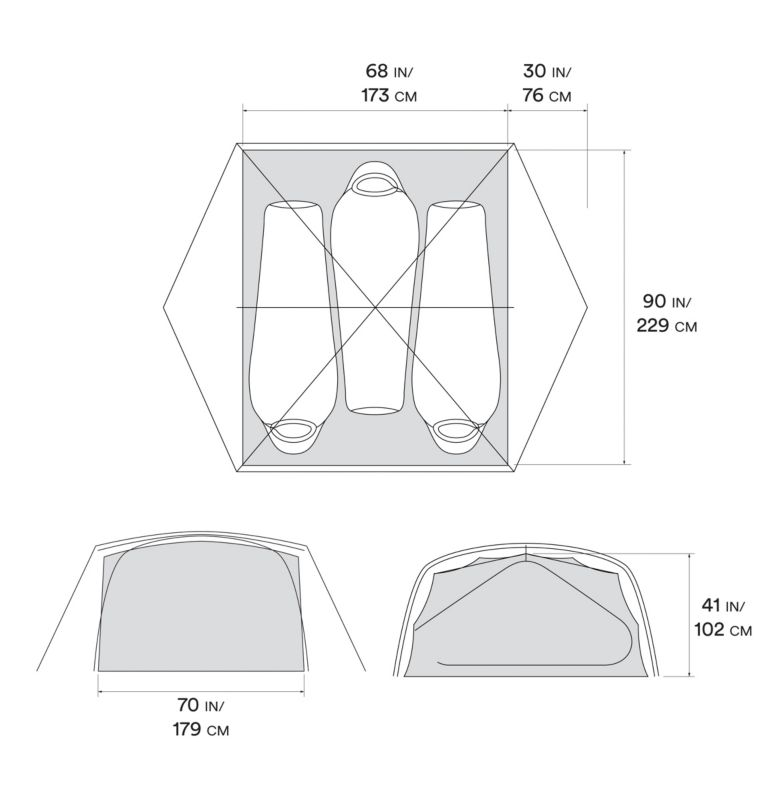 Mineral King™ 3 Tent | 063 | O/S Mineral King™ 3 Tent, Grey Ice, a10