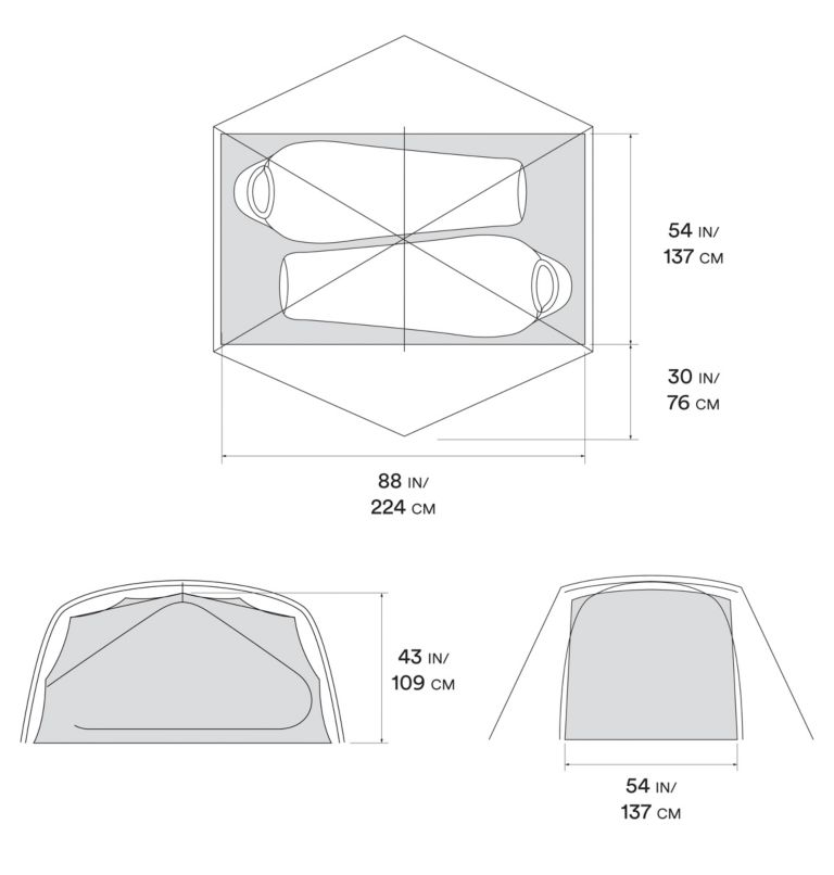Mineral King™ 2 Tent | 063 | O/S Mineral King™ 2 Tent, Grey Ice, a10