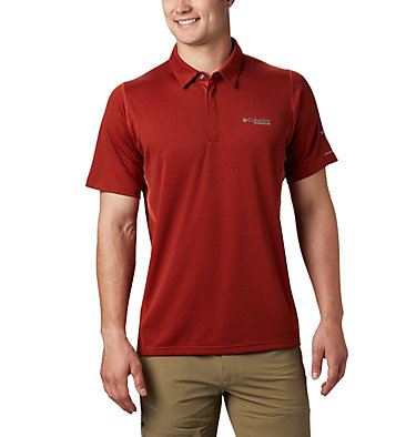 Polo Irico™ Homme M Irico™ Knit Polo | 369 | L, Carnelian Red, front