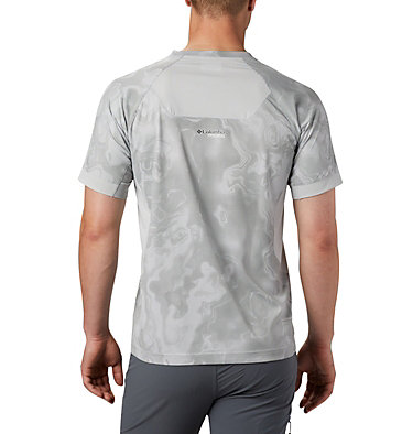Men's Titan Pass™ Sun Deflector Tee M Titan Pass™ Sun Deflector Tee | 478 | L, Columbia Grey Collision Print, back