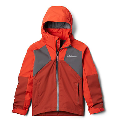 Boys' Rain Scape™ Jacket Rain Scape™ Jacket   845   L, Wildfire, Carnelian Red, City Grey, front