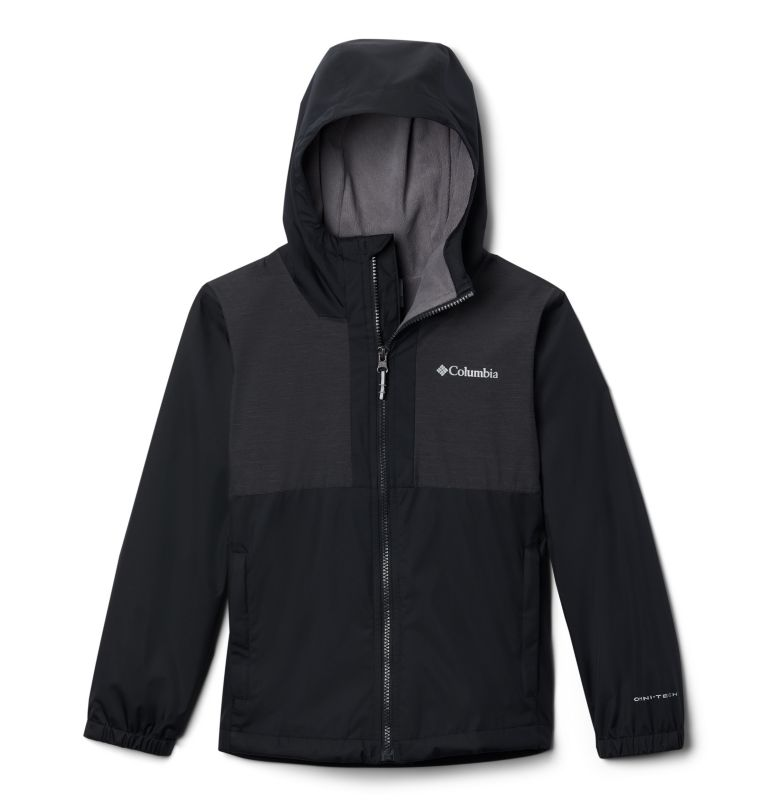 Rainy Trails™ Fleece Lined Jacket | 010 | XS Boys' Rainy Trails™ Fleece Lined Jacket, Black, front