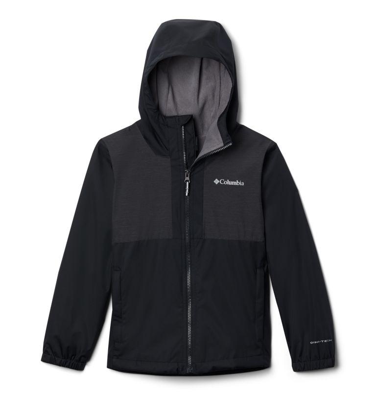 Rainy Trails™ Fleece Lined Jacket | 010 | XL Boys' Rainy Trails™ Fleece Lined Jacket, Black, front