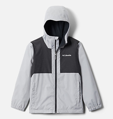 Boys' Rainy Trails™ Fleece Lined Jacket Rainy Trails™ Fleece Lined Jacket   465   XXS, Columbia Grey, Black Slub, front