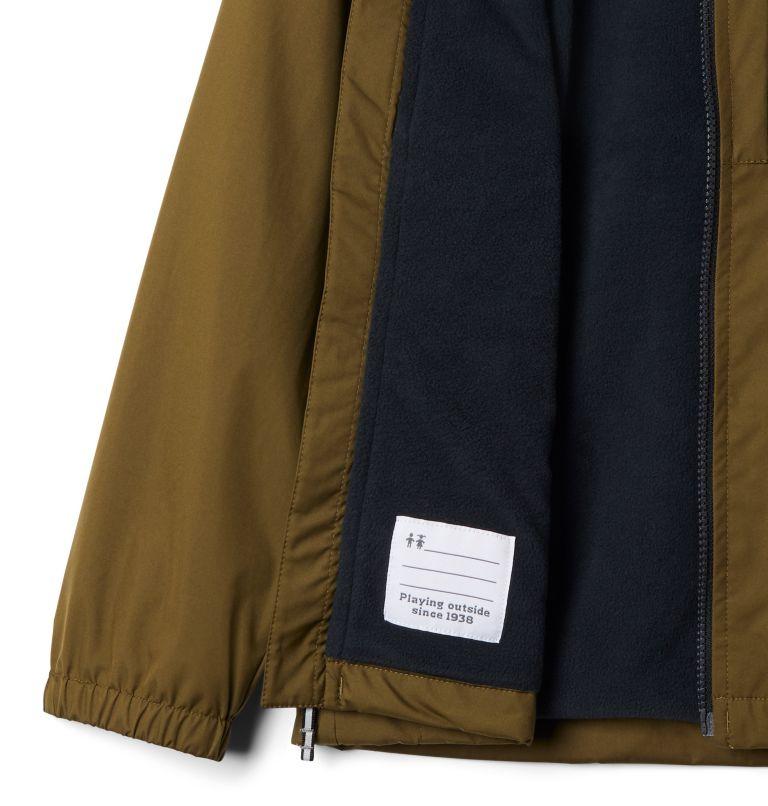 Rainy Trails™ Fleece Lined Jacket | 327 | XS Manteau doublé de laine polaire Rainy Trails pour garçon, New Olive, Black, a1