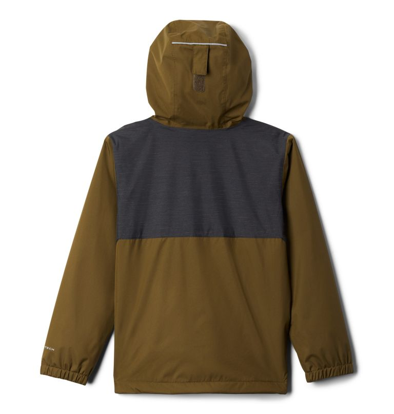 Rainy Trails™ Fleece Lined Jacket | 327 | XS Manteau doublé de laine polaire Rainy Trails pour garçon, New Olive, Black, back