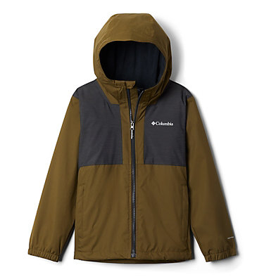 Boys' Rainy Trails™ Fleece Lined Jacket Rainy Trails™ Fleece Lined Jacket | 327 | L, New Olive, Black, front
