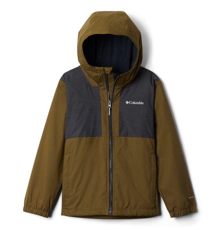 Rainy Trails™ Fleece Lined Jacket | 327 | XS Manteau doublé de laine polaire Rainy Trails pour garçon, New Olive, Black, front