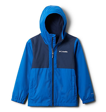 Manteau doublé de laine polaire Rainy Trails pour garçon Rainy Trails™ Fleece Lined Jacket | 432 | XXS, Bright Indigo, Coll Navy Slub, front