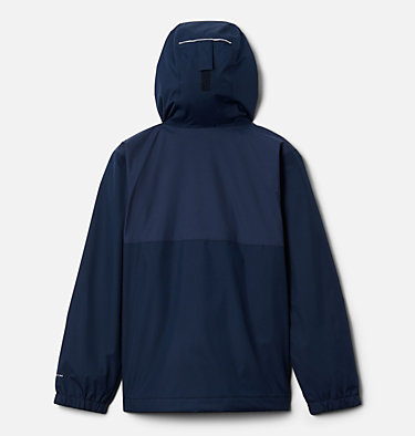 Boys' Rainy Trails™ Fleece Lined Jacket Rainy Trails™ Fleece Lined Jacket   465   XXS, Coll Navy, Coll Navy Slub, back