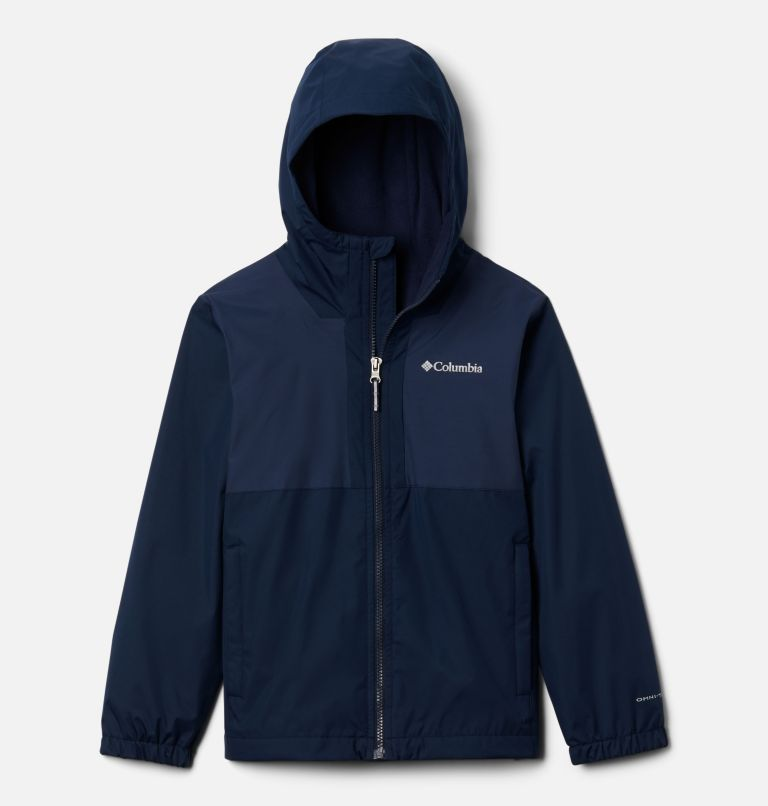 Rainy Trails™ Fleece Lined Jacket | 465 | XXS Boys' Rainy Trails™ Fleece Lined Jacket, Coll Navy, Coll Navy Slub, front