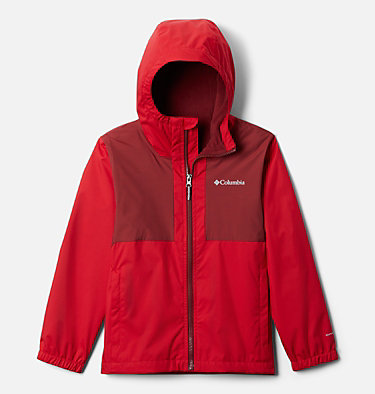 Manteau doublé de laine polaire Rainy Trails pour garçon Rainy Trails™ Fleece Lined Jacket | 432 | XXS, Mountain Red, front