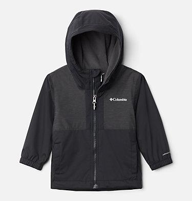 Boys' Toddler Rainy Trails™ Fleece Lined Jacket Rainy Trails™ Fleece Lined Jacket | 369 | 3T, Black, Black Slub, front