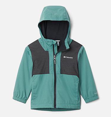 Boys' Toddler Rainy Trails™ Fleece Lined Jacket Rainy Trails™ Fleece Lined Jacket | 369 | 3T, Thyme Green, Black Slub, front