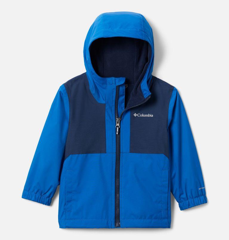 Rainy Trails™ Fleece Lined Jacket | 432 | 4T Boys' Toddler Rainy Trails™ Fleece Lined Jacket, Bright Indigo, Coll Navy Slub, front