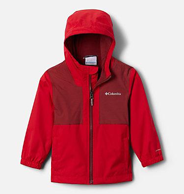 Boys' Toddler Rainy Trails™ Fleece Lined Jacket Rainy Trails™ Fleece Lined Jacket | 613 | 2T, Mountain Red, front