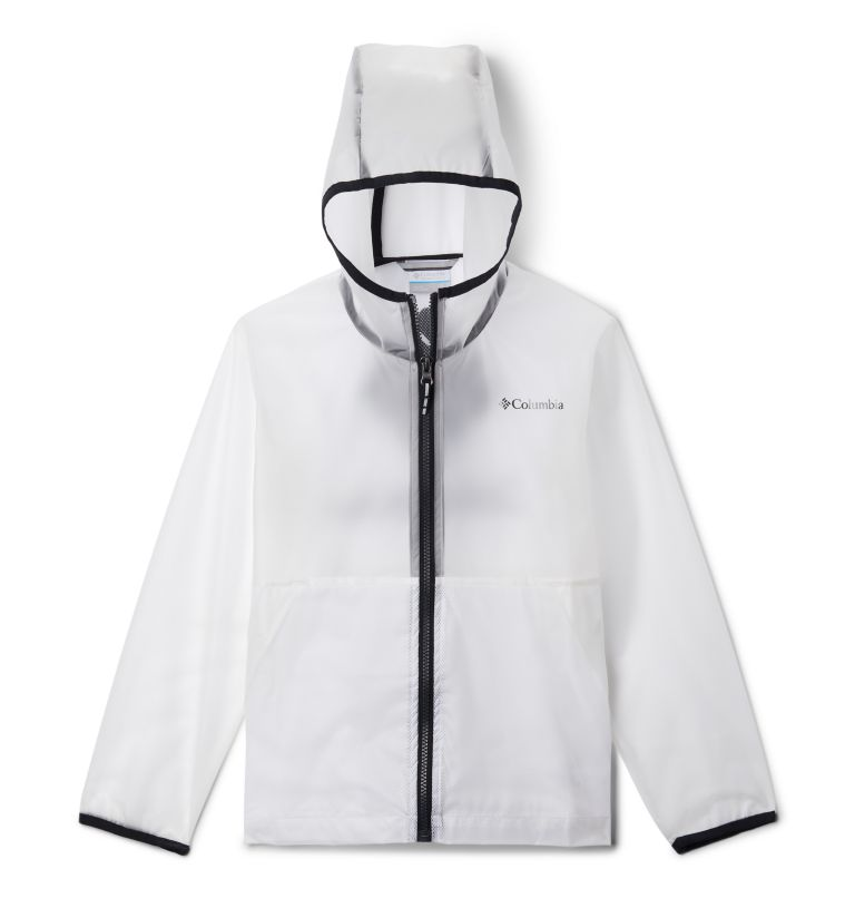 Translucent Trail™ Rain Slicker | 100 | M Kids' Translucent Trail™ Rain Slicker, White, front