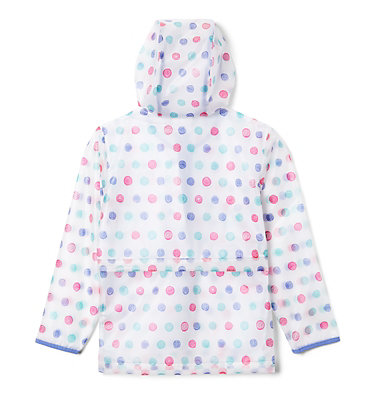 Kids' Translucent Trail™ Rain Slicker Translucent Trail™ Rain Slicker | 100 | L, African Violet Polka Pets, back