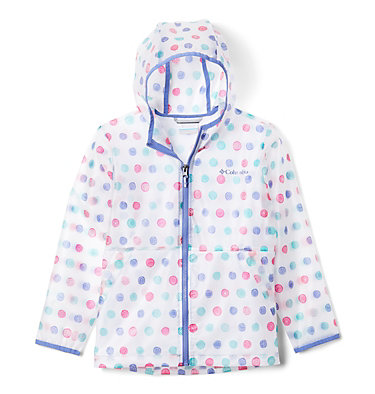 Kids' Translucent Trail™ Rain Slicker Translucent Trail™ Rain Slicker | 100 | L, African Violet Polka Pets, front