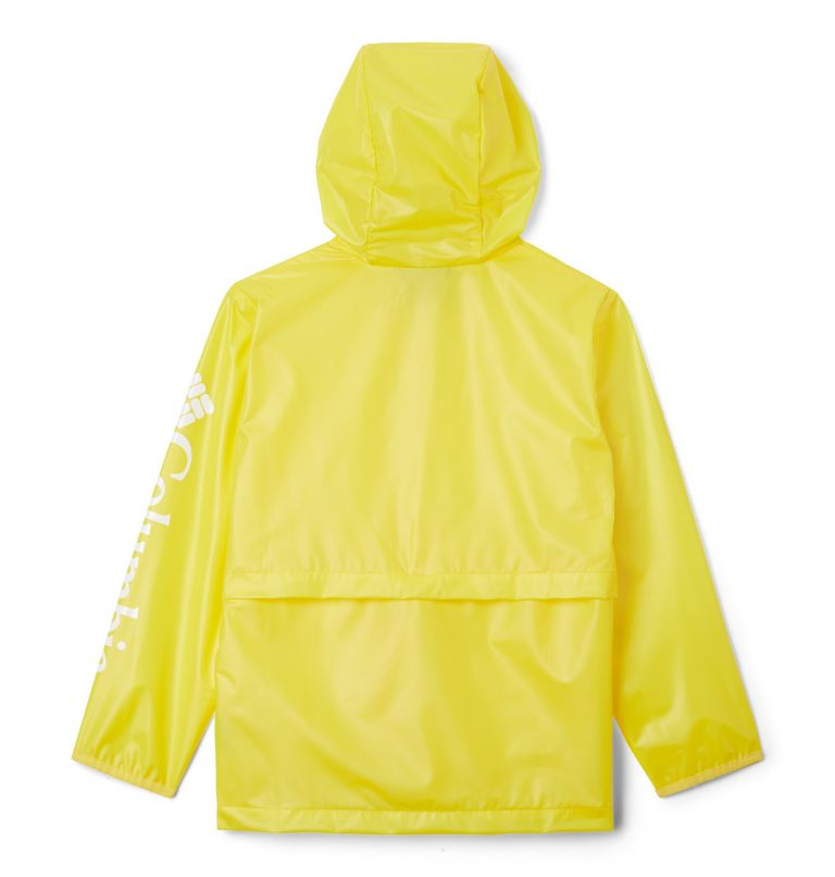 Translucent Trail™ Rain Slicker | 729 | L Kids' Translucent Trail™ Rain Slicker, Buttercup, back
