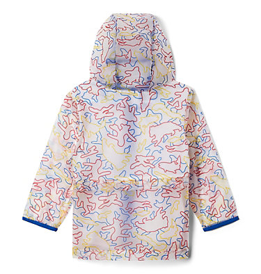 Toddler Translucent Trail™ Rain Slicker Translucent Trail™ Rain Slicker | 100 | 2T, Collegiate Navy Camo Critters, back