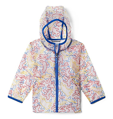 Toddler Translucent Trail™ Rain Slicker Translucent Trail™ Rain Slicker | 100 | 2T, Collegiate Navy Camo Critters, front