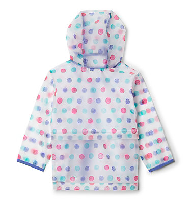 Toddler Translucent Trail™ Rain Slicker Translucent Trail™ Rain Slicker | 100 | 2T, African Violet Polka Pets, back